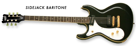 Eastwood Sidejack Baritone Guitar (Black Finish, Left-Handed)