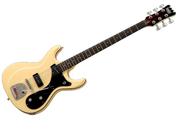 Eastwood Sidejack Bass VI Guitar (Vintage Cream)