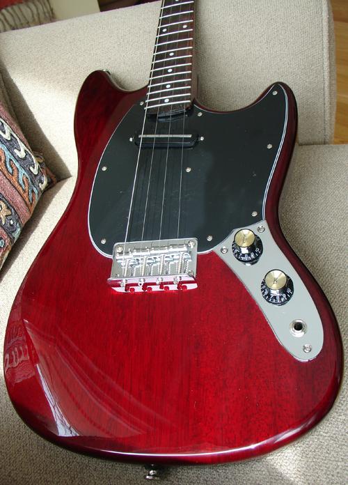 First Look: Eastwood Warren Ellis Signature Tenor Guitar with Cherry Finish