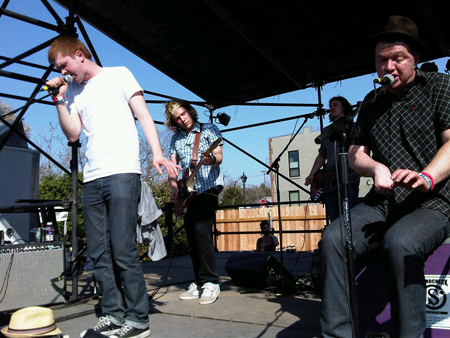 Edwyn Collins & his son William at SXSW 2011