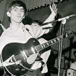 George Harrison and his Gretsch G6128T Duo Jet guitar