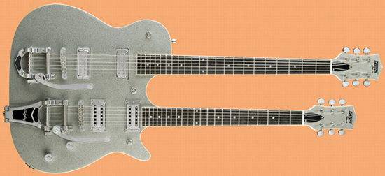 Gretsch Electromatic G5566 Jet Double Neck 6-string Lead & Baritone Guitar Combo