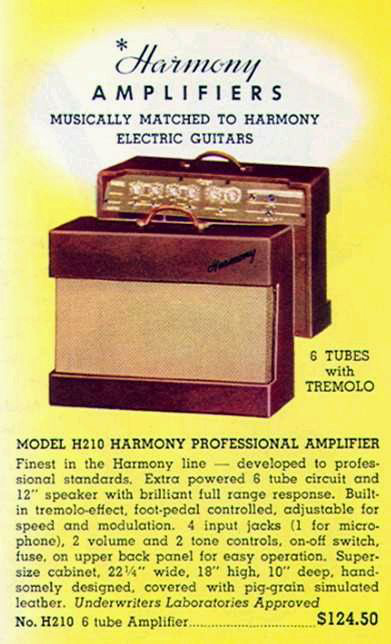 Harmony 210 Guitar Amplifier Ad