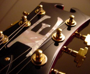 Headstock: Joey Leone RBC Guitar from Eastwood Guitars