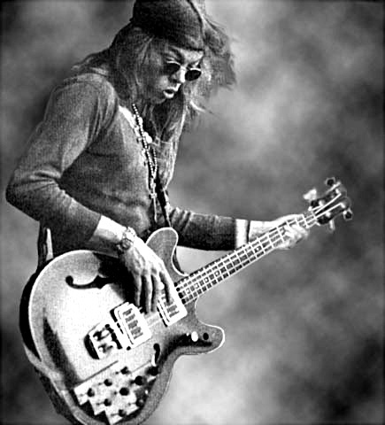 Jack Casady with his Guild Starfire Bass Guitar