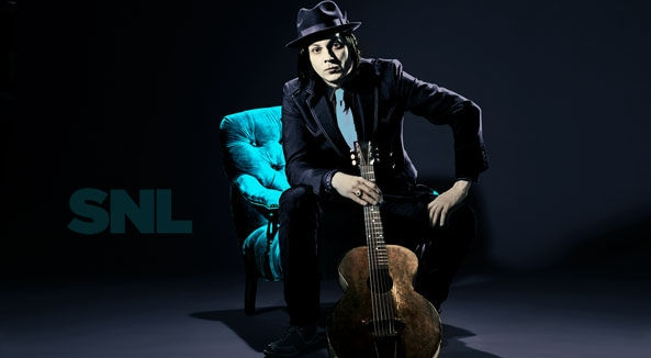 Jack White with his 1915 Gibson L-1 Acoustic Guitar