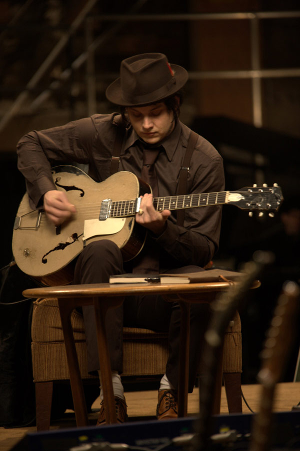 Jack White with his 1950s Kay Hollowbody Guitar