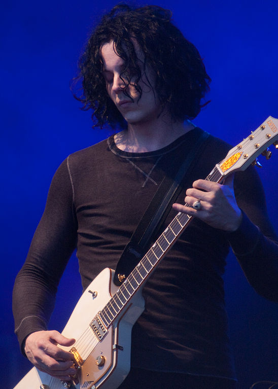 Jack White and his 1957 Gretsch G6199 Billy-Bo Jupiter Thunderbird Guitar