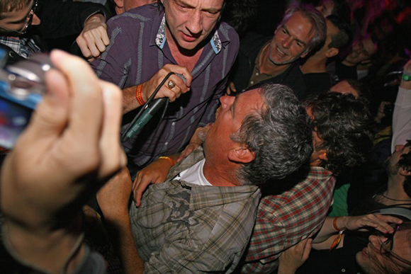 Me in the pit at the Jesus Lizard show at ATP (David Yow with the mic)