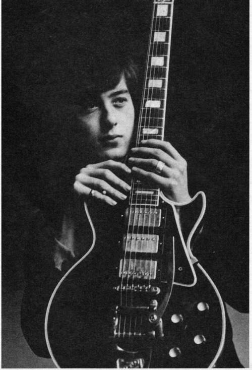 Jimmy Page and his Gibson Les Paul Black Beauty