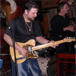 Joey Leone with his Fender Telecaster