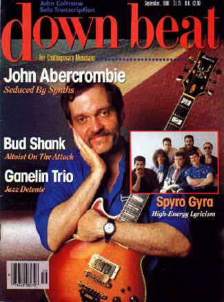John Abercrombie on the cover of DownBeat Magazine