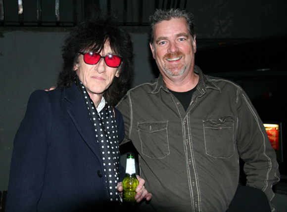 Me with John Cooper Clarke, comedian