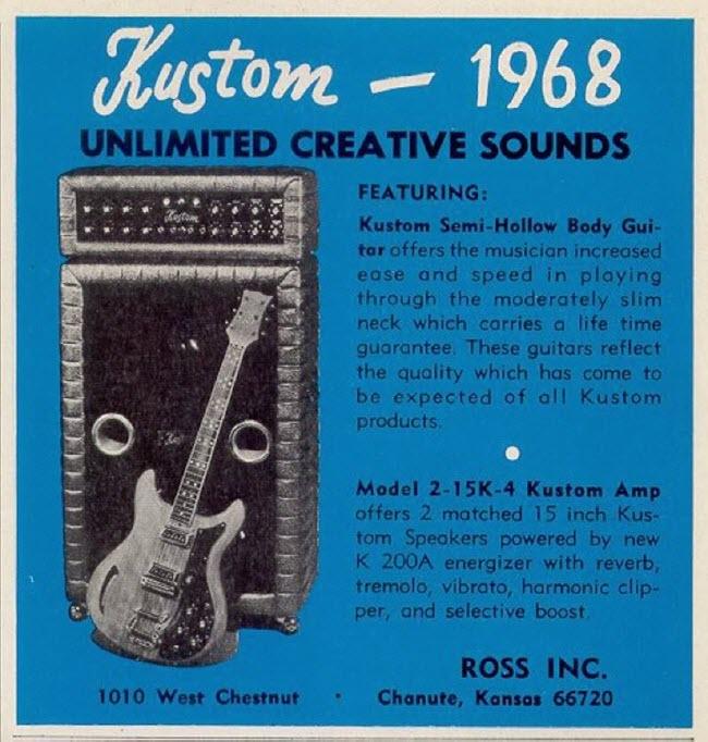 1968 Kustom Ad for the K200A Amp