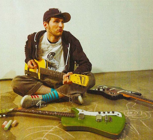 Josh Klinghoffer with the Airline Bighorn Guitar (Red Hot Chili Peppers)
