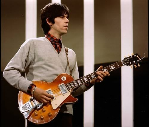 Keith Richards and his 1959 Les Paul