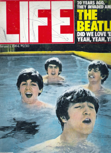 Life Magazine, Feb. 1984: The Beatles in my cousin's backyard swimming pool