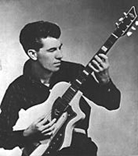 Link Wray with a Supro Dual Tone Guitar