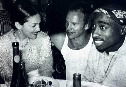 Madonna, Sting & Tupac (Tribeca dinner party, 1994)