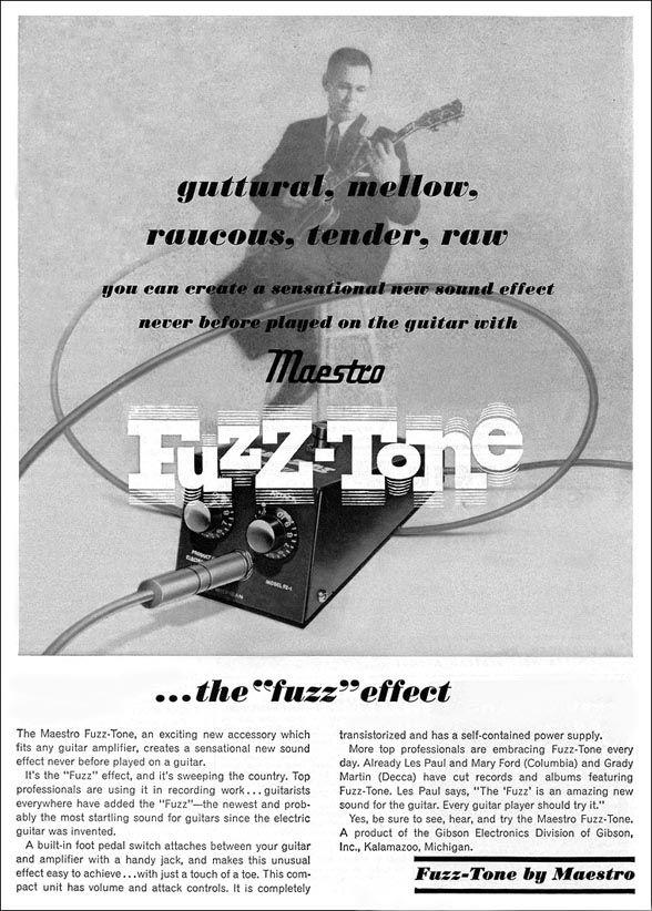 vintage Maestro Fuzz Tone ad