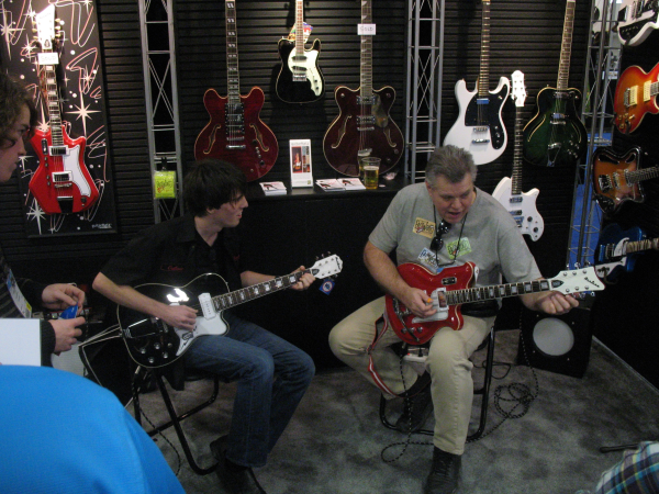 Mason Stoops and Wendell Ferguson jamming at NAMM