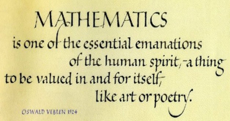 Mathematics Quote from Oswald Veblen (1924)