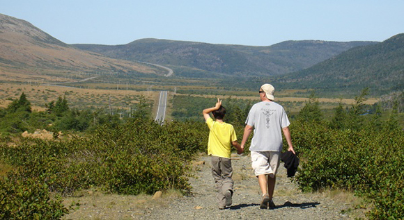 Troy and me hiking in Western Newfoundland