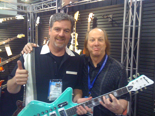Mike Robinson & Adrian Belew at NAMM 2011