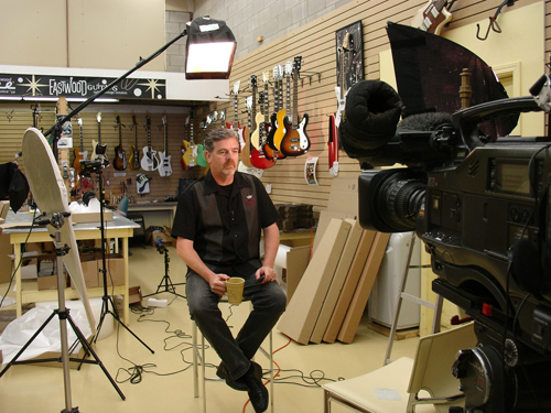 Mike Robinson taping Guitar Pics for Treasure HDTV