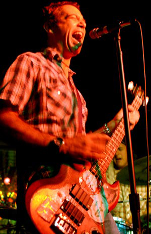 Mike Watt with his 1963 Gibson EB3 Bass Guitar