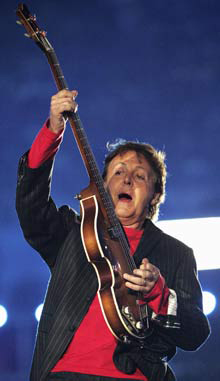 Sir Paul McCartney: Bass Player for the Beatles