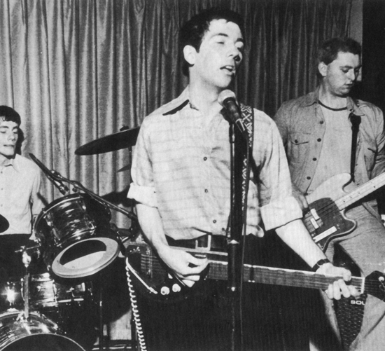 Pete Shelley onstage with the Buzzcocks