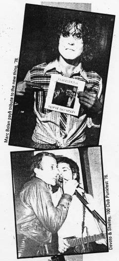 Pete Shelley newspaper clippings