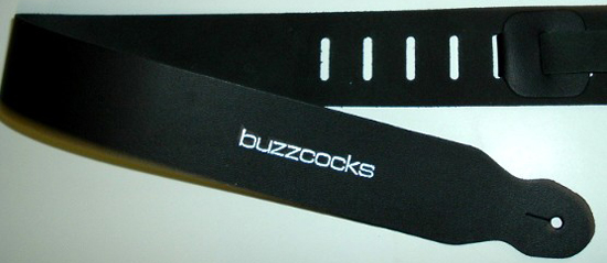 Custom Buzzcocks Guitar Strap