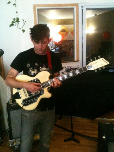 Peter Silberman from The Antlers with his Airline Town & Country Guitar