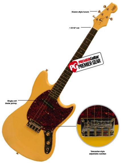 Premier Guitar Reviews the Eastwood Warren Ellis Signature Tenor Guitar