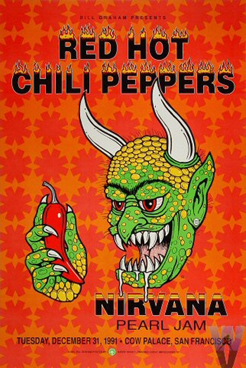 Red Hot Chili Peppers with Nirvana & Pearl Jam (New Year's Eve 1991, San Francisco)