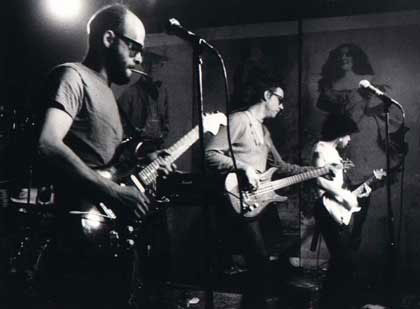 Richard Hell & the Voidoids on stage at CBGB in 1976