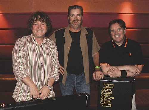 Mike Robinson with Chris Difford & Glenn Tilbrook of Squeeze