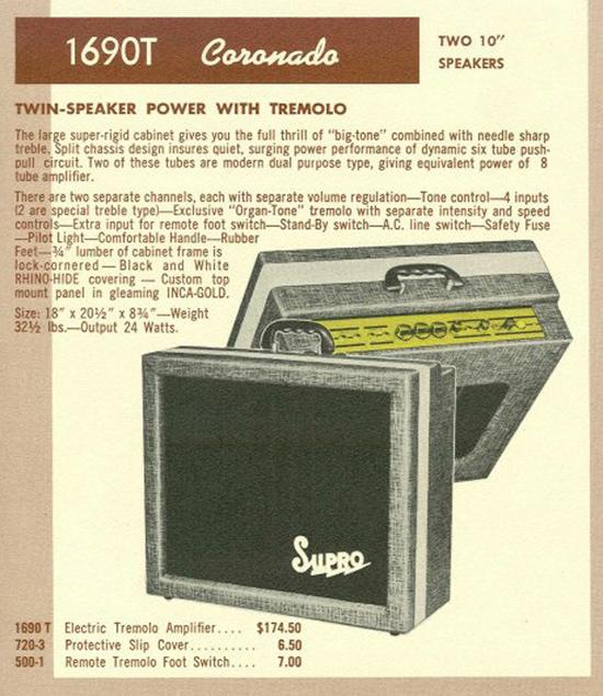 Supro 1690T Coronado Amp (catalog ad)
