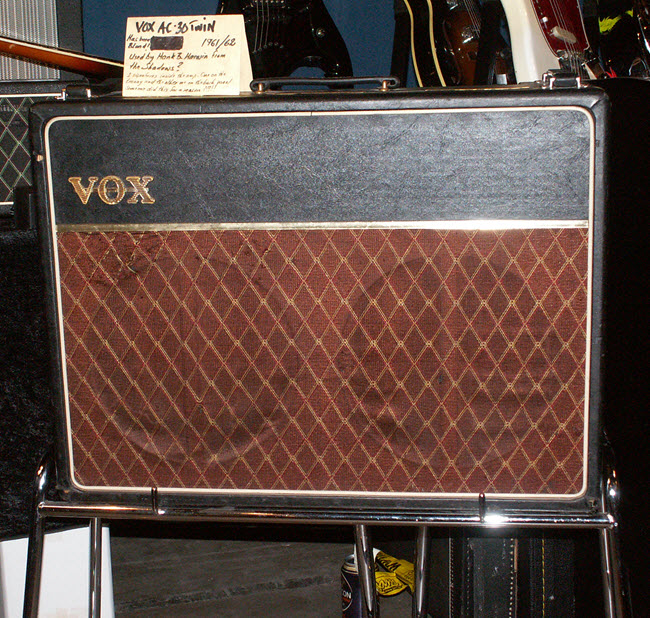 Vox AC30 Amp played by The Shadows