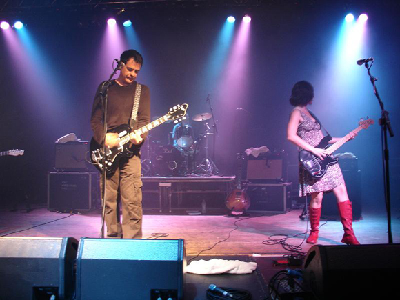 The Wedding Present in Wolverhampton. David Gedge played his Eastwood Supro.
