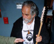 Tommy Chong holding my Eastwood Phantom Guitar