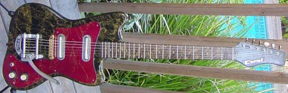 Vintage 1960's Coral Hornet Electric Guitar (Refinished)