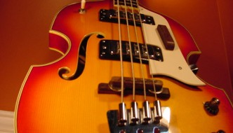 Vintage Domino Beatle Bass Guitar