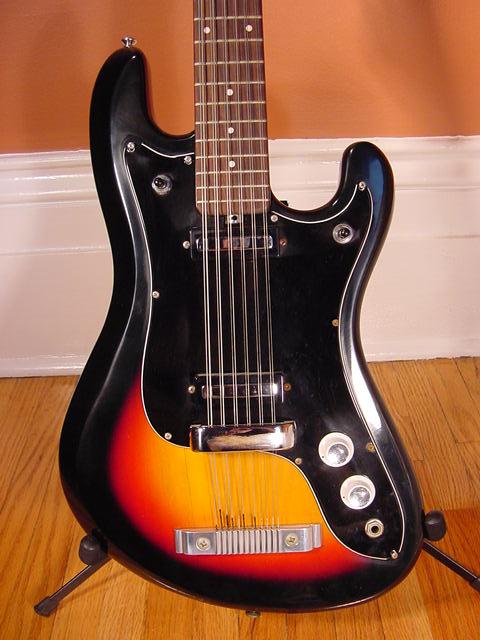Vintage 1960's EKO Cobra 12-String Electric Guitar (Sunburst)
