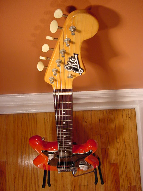 Vintage 1960's EKO Cobra 6-String Electric Guitar (Red)