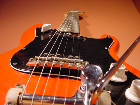 Vintage 1960's EKO Cobra 6-String Electric Guitar (Red)
