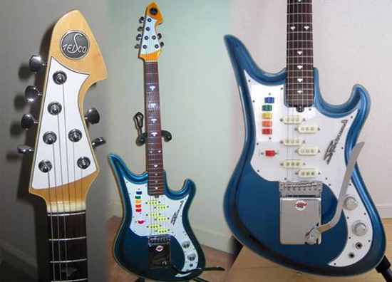 Vintage 1960's Teisco Spectrum 5 Guitar