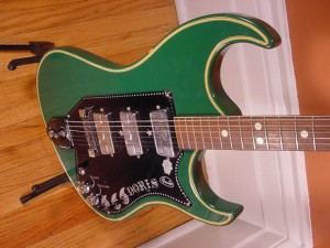 Vintage 1960's Wandre Doris Electric Guitar (Green)